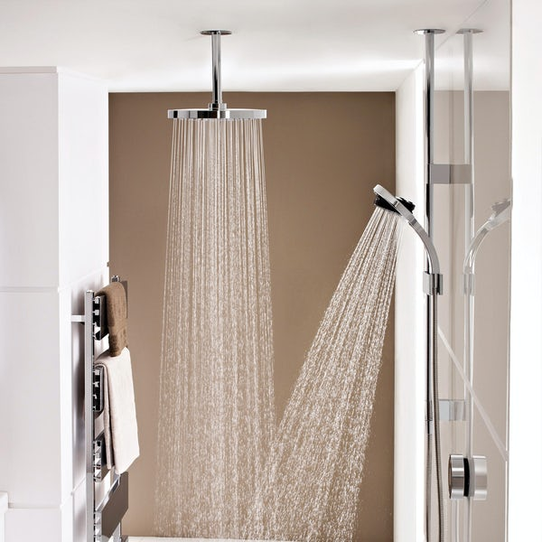 Mira Platinum dual ceiling fed digital shower pumped