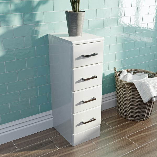Eden white multi drawer unit 330mm