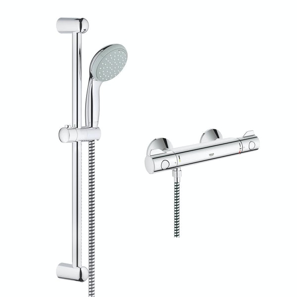 Grohe Grohtherm 800 thermostic shower set with slider rail kit