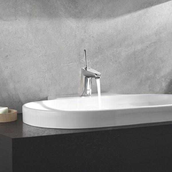 Grohe Eurodisc Joy basin mixer tap with waste