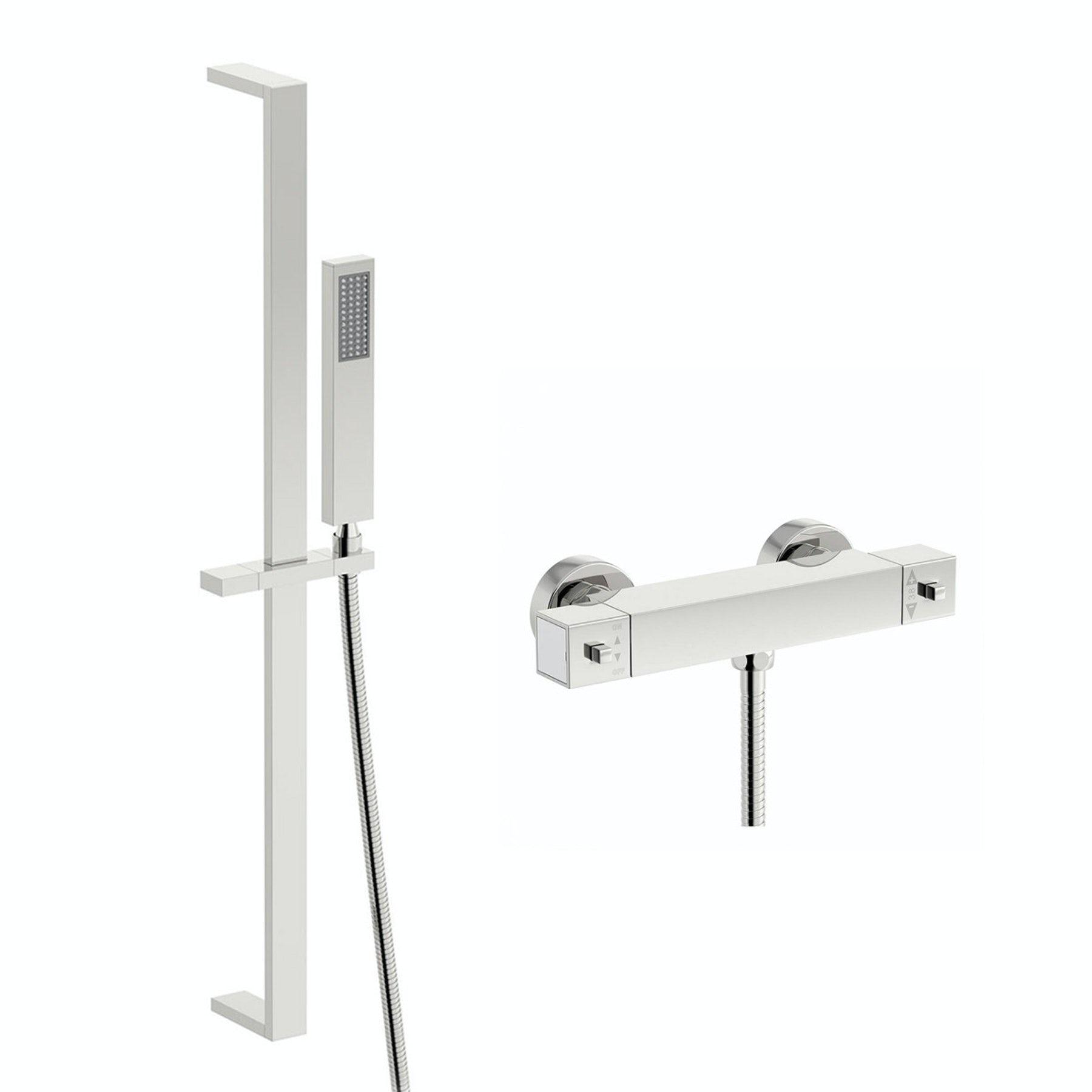 Orchard Wye thermostatic bar shower valve with slider rail kit