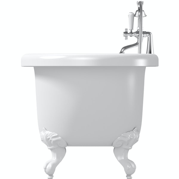 The Bath Co. Dulwich roll top bath with white ball and claw feet