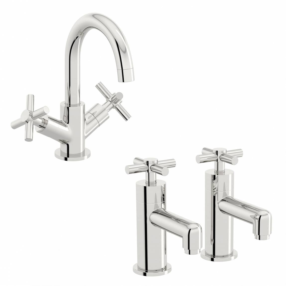 Mode Tate basin mixer and bath tap pack
