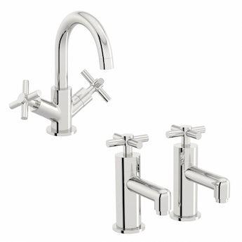 Mode Alexa basin mixer and bath tap pack