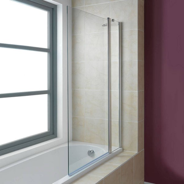 Hinged Double Bath Screen