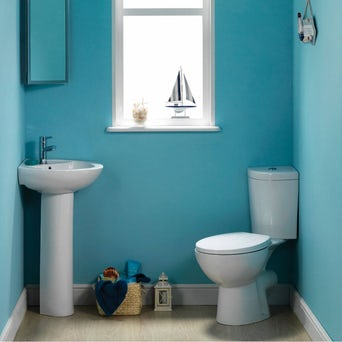 Palm Corner Toilet and Basin Suite