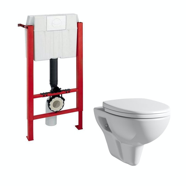 Orchard Eden wall hung toilet with soft close seat and wall mounting frame