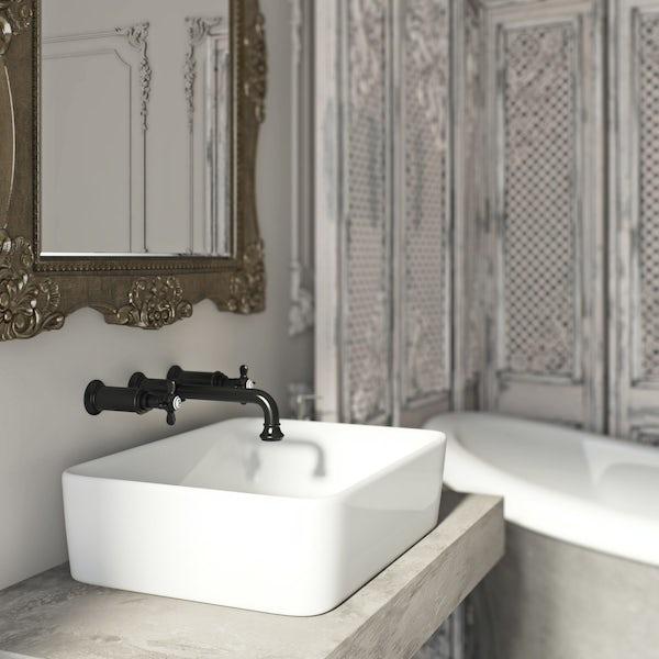 Belle de Louvain Castello wall mounted basin mixer tap