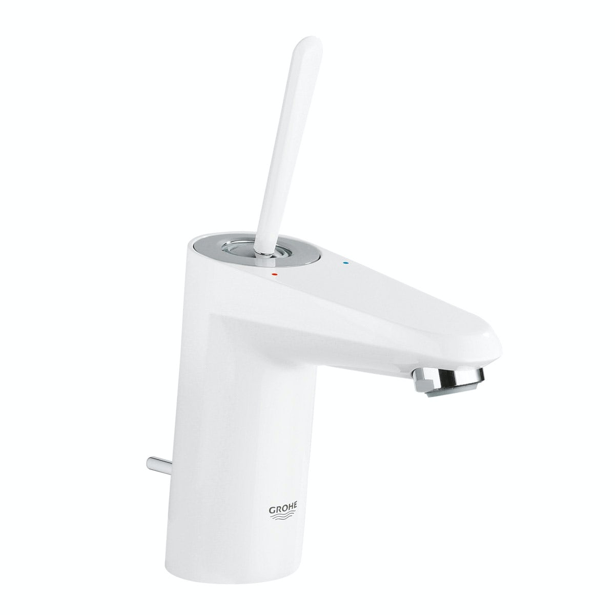 Grohe Eurodisc Joy basin mixer tap white with waste
