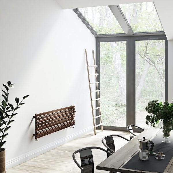Terma Sherwood terra brown horizontal radiator 440 x 1600