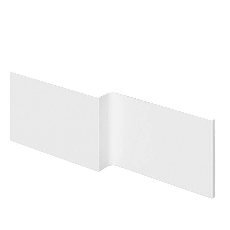Orchard L shaped shower bath acrylic front panel 1700mm
