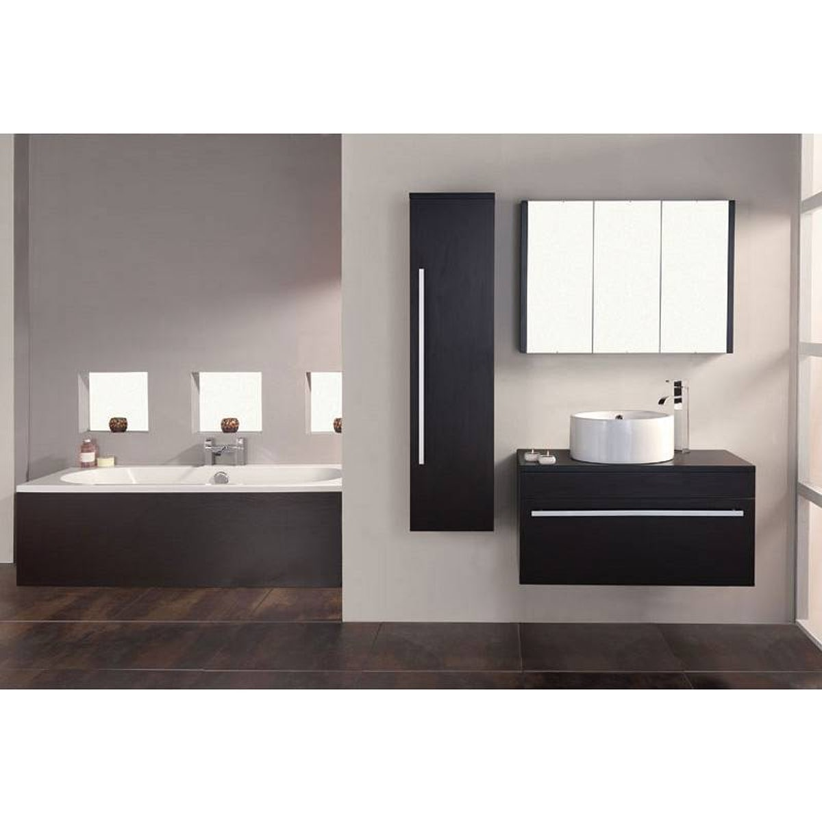 Wenge mirror bathroom cabinet cabinets matttroy for Wenge bathroom cabinet