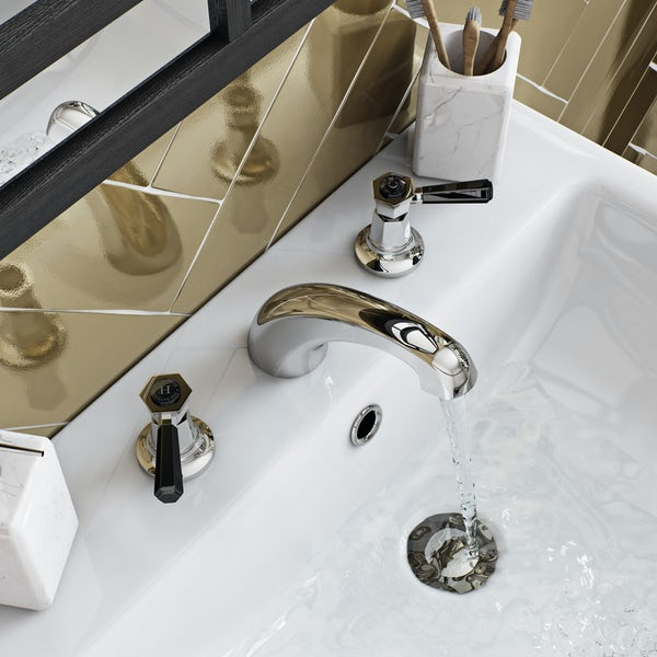 The Bath Co. Beaumont lever 3 hole basin mixer tap