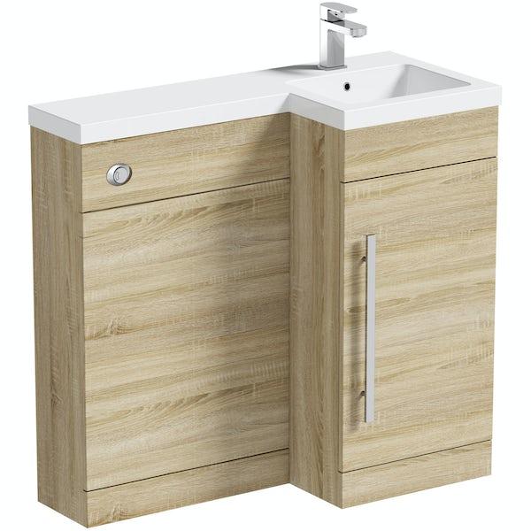 MySpace Oak Combination Unit RH including Concealed Cistern