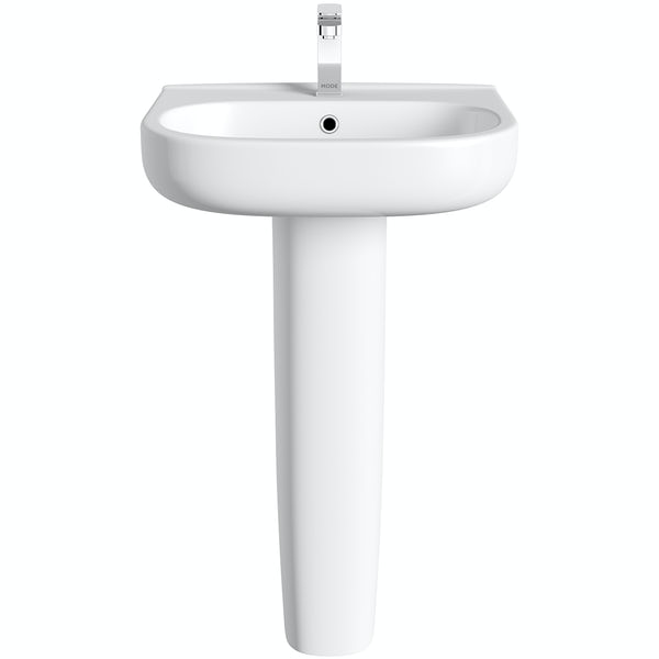 Mode Burton full pedestal basin 550mm