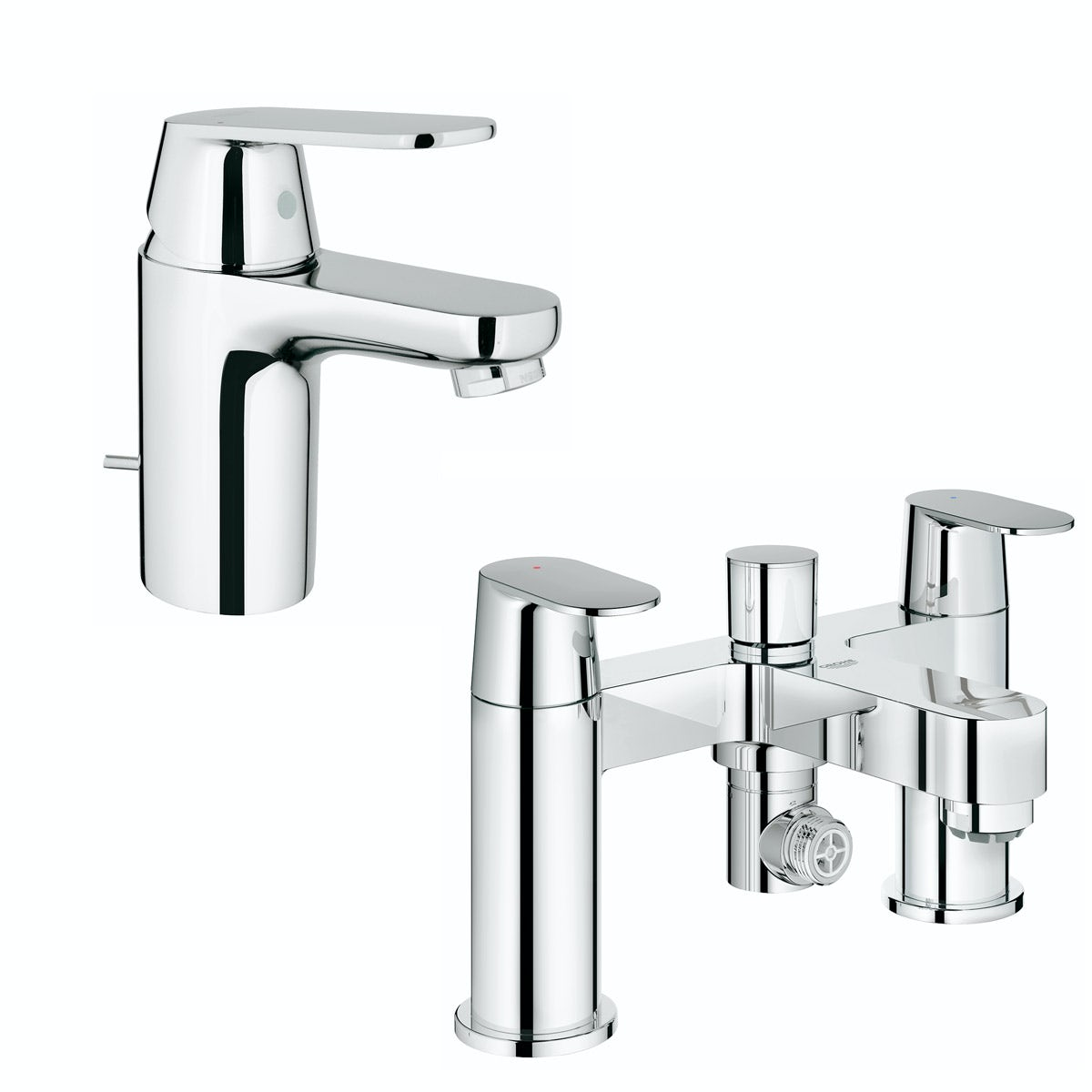 Grohe Eurosmart Cosmopolitan  basin and bath shower mixer tap pack
