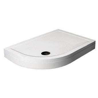 Offset Quadrant Stone Shower Tray & Riser Kit 900 x 760 LH