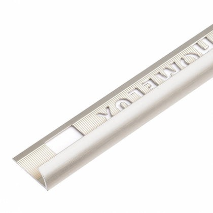 Aluminium Stainless Steel Effect Tile Trim 9mm