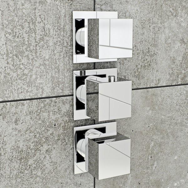 Mode Cooper square triple thermostatic shower valve