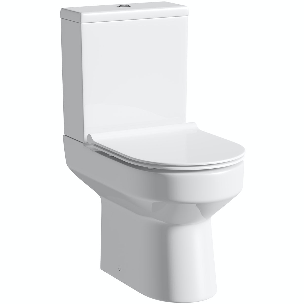 Orchard Wharfe close coupled toilet with soft close slim seat with pan connector