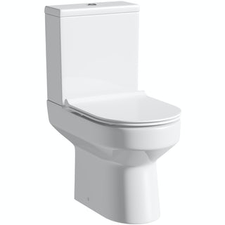 Oakley Close Coupled Toilet inc. Luxury Soft Close Slim Seat
