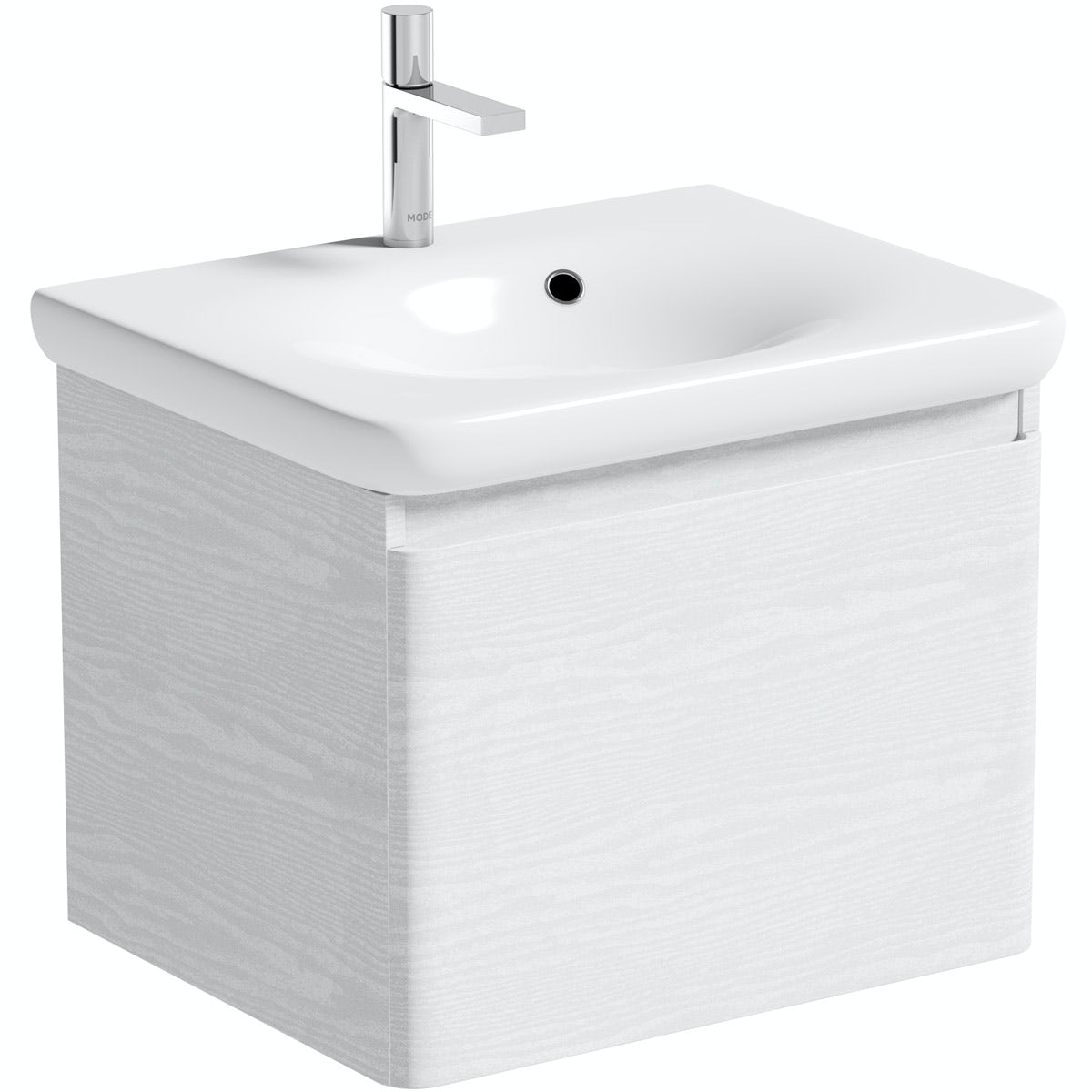 Mode Heath LED white wall hung vanity unit and basin 600mm