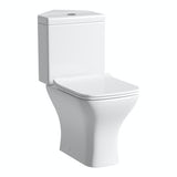 Orchard Derwent square compact corner close coupled toilet with slimline soft close toilet seat
