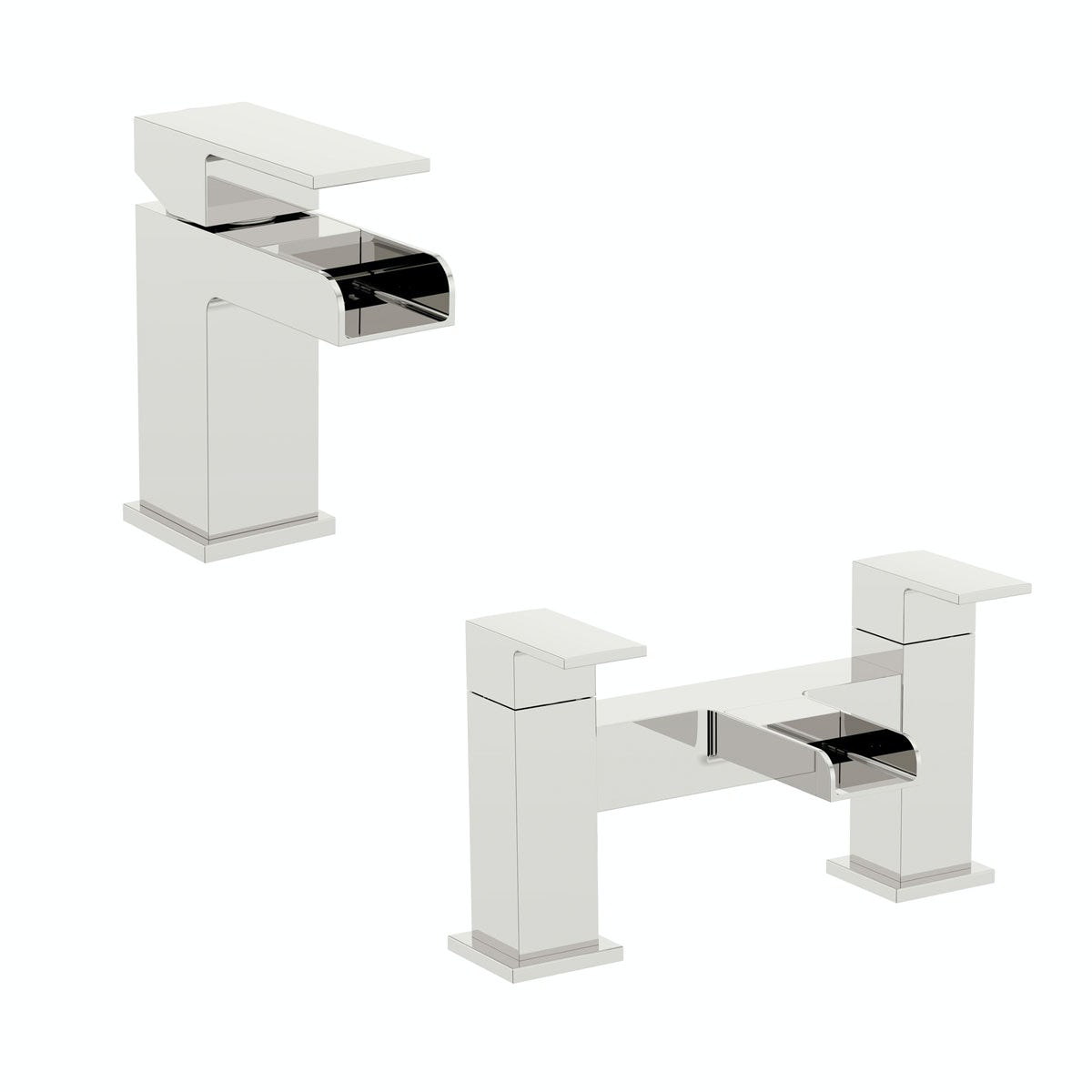 Orchard Derwent waterfall basin and bath mixer pack