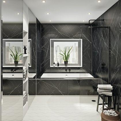 Multipanel Linda Barker Nero Grafite Hydrolock shower wall panel