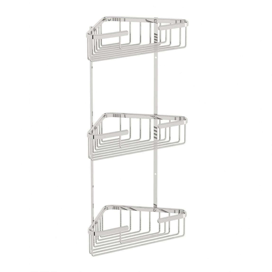 Orchard Options brass triple triangular shower caddy