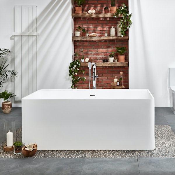 Belle de Louvain Carpi solid surface stone resin freestanding bath