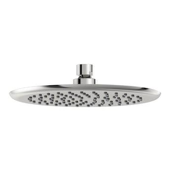 Airmix water saving round shower head 200mm