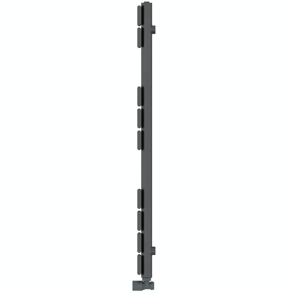 Signelle anthracite heated towel rail 950 x 500
