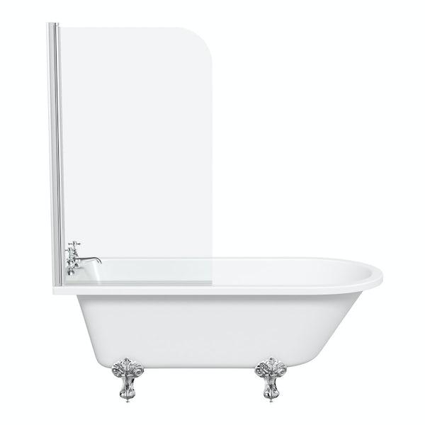 Dulwich Freestanding Shower Bath and Bath Screen