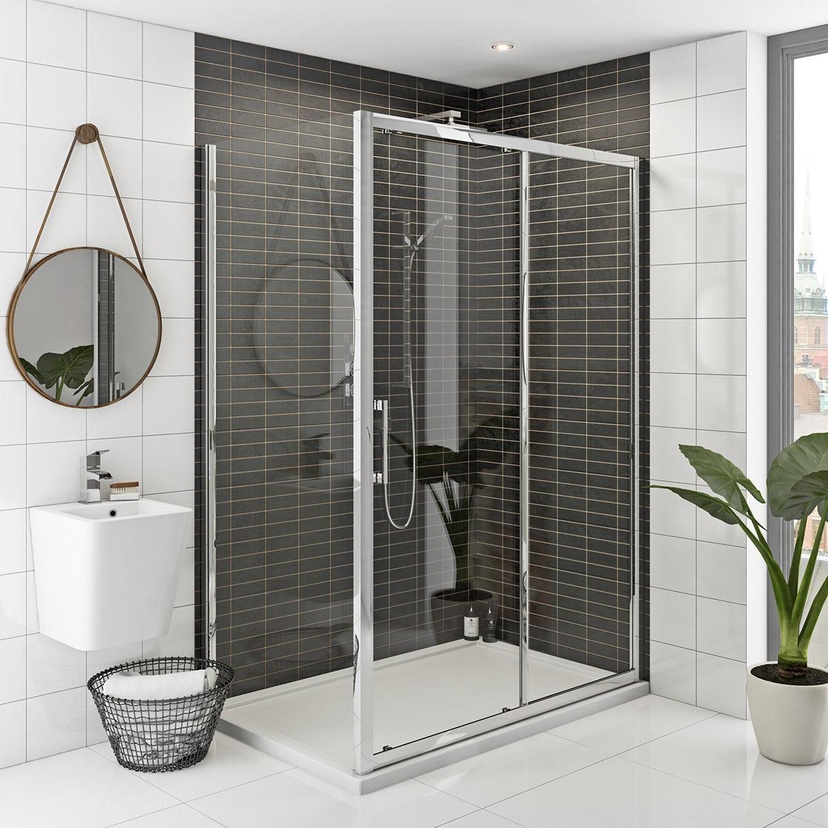 Hardy 8mm easy clean sliding shower enclosure