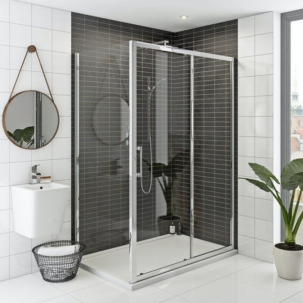 Rand 8mm easy clean sliding shower enclosure