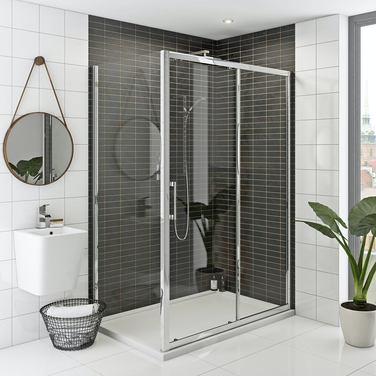 Mode Rand premium 8mm easy clean shower enclosure 1000 x 700 offer pack