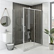 Hardy 8mm easy clean sliding shower enclosure