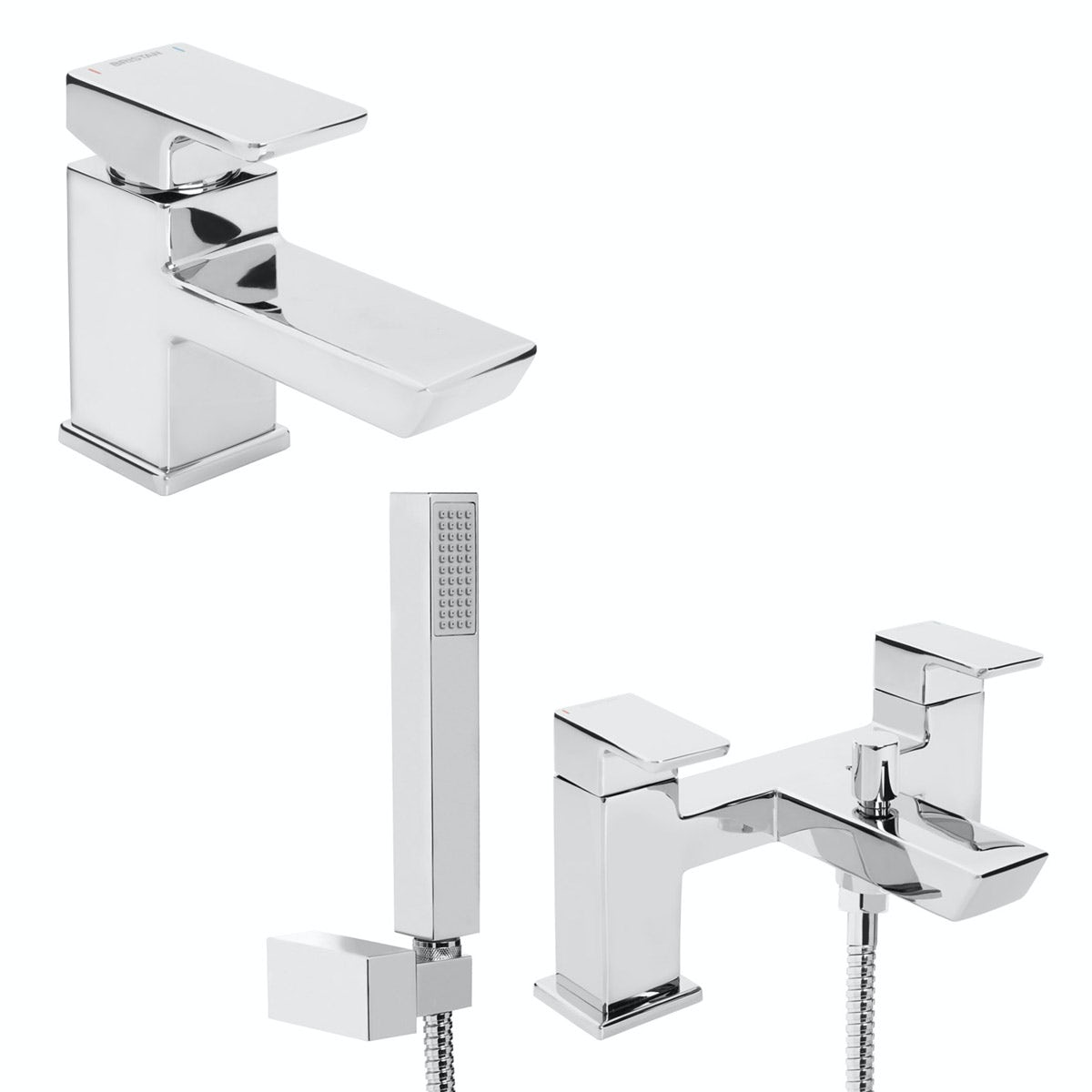 Bristan Cobalt basin and bath shower mixer tap pack