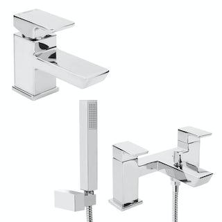 Bristan Cobalt basin and bath shower mixer tap pack