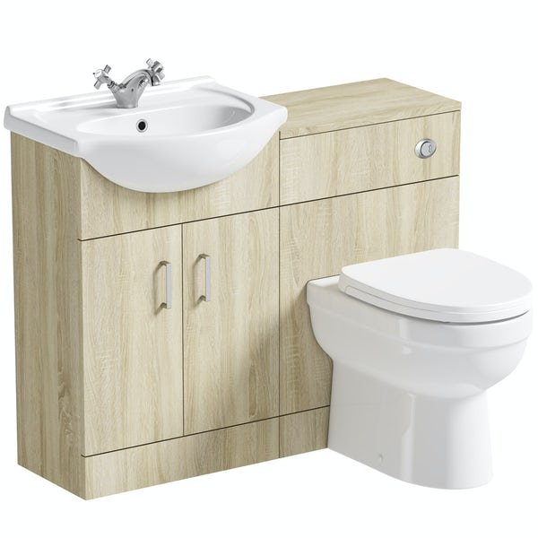 Orchard Eden oak 1040 combination with back to wall toilet and seat