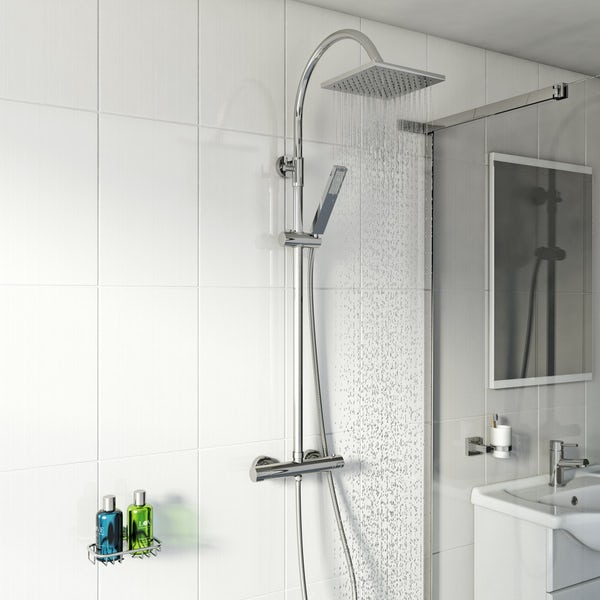 Aria Square Head Shower Riser System