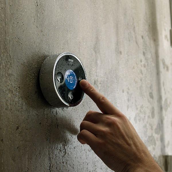 Mira Platinum rear fed digital shower pumped