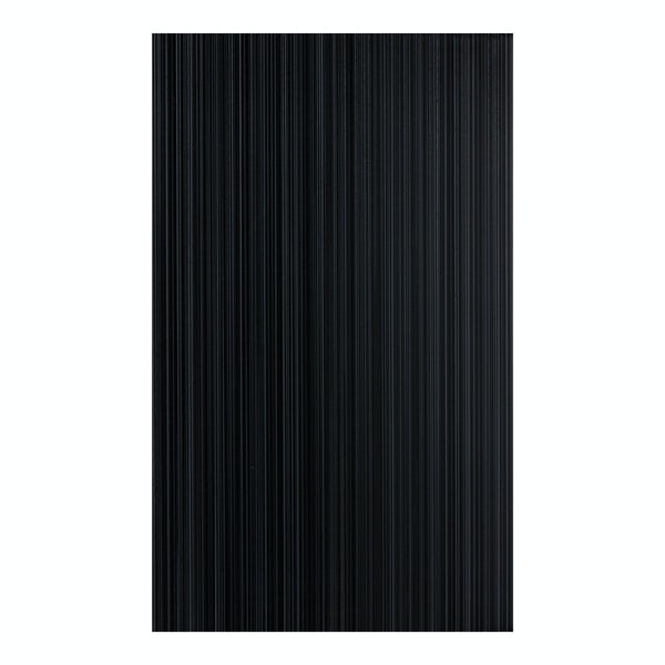 British Ceramic Tile Linear black gloss tile 248mm x 398mm