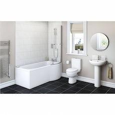 Image of Energy Bathroom Suite with Evesham 1675 x 850 Shower Bath RH & Free Tap