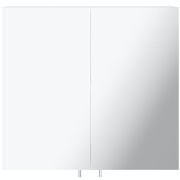 Orchard Emperor white steel mirror cabinet 600 x 550mm