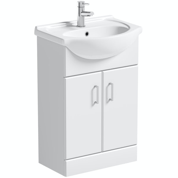 Orchard Eden white vanity unit and basin 550mm