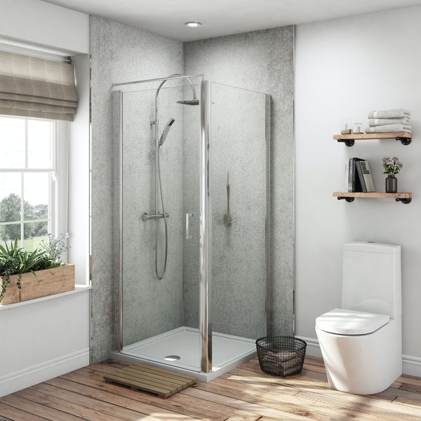 Multipanel Classic Arctic Stone Hydrolock shower wall panel