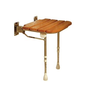AKW Wooden folding shower seat