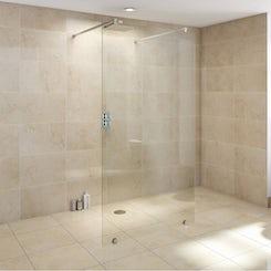 Premium 10mm wet room glass panel 1150mm